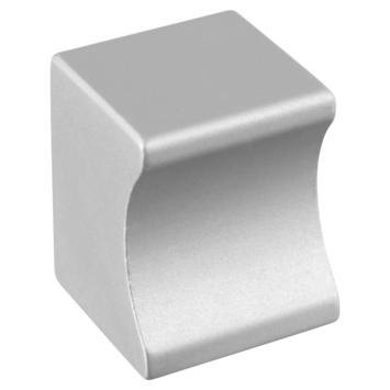 Knop Vierkant aluminium 19mm