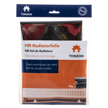Tonzon radiatorfolie 7,5m bij 50cm