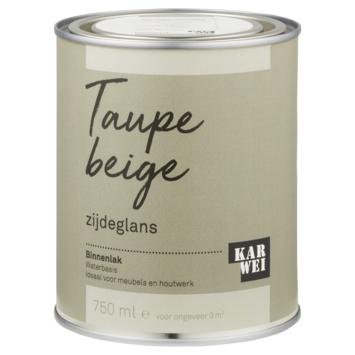 Karwei binnenlak zijdeglans 750 ml taupe beige
