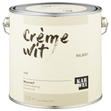 KARWEI muurverf crèmewit mat 2,5 liter