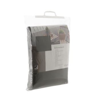Balkonscherm doek polyester grijs 90x500cm