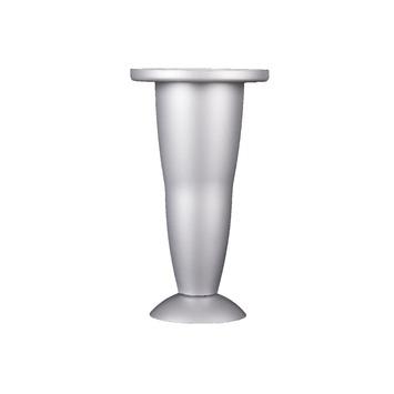 Duraline meubelpoot kunststof aluminium verstelbaar 12,8-13,8 cm