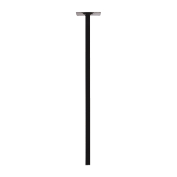Inspirations meubelpoot vierkant zwart 2,5x75 cm