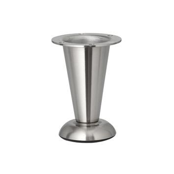 Inspirations meubelpoot rond mat nikkel verstelbaar 103-113 mm