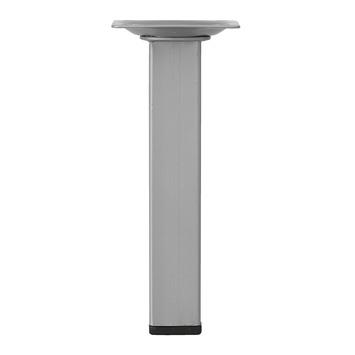 Inspirations meubelpoot vierkant zilvergrijs 2,5x15 cm