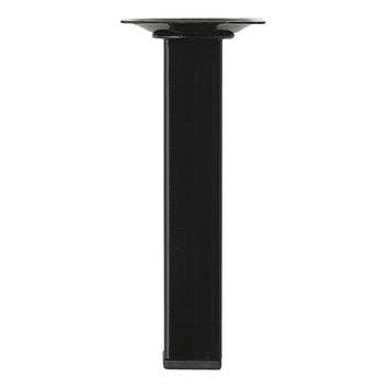 Duraline meubelpoot vierkant zwart 2.5x15 cm