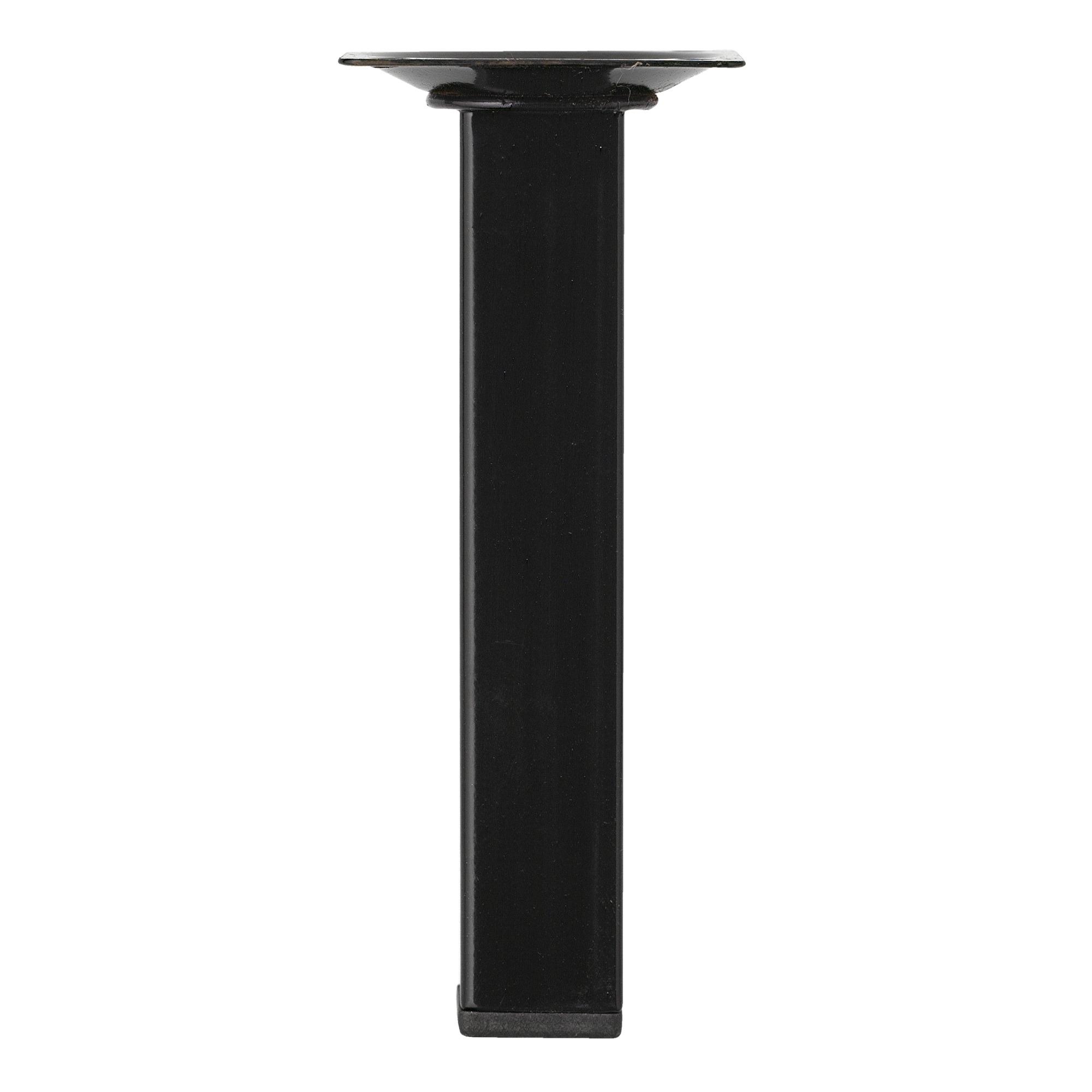 Inspirations meubelpoot vierkant zwart 2.5×15 cm