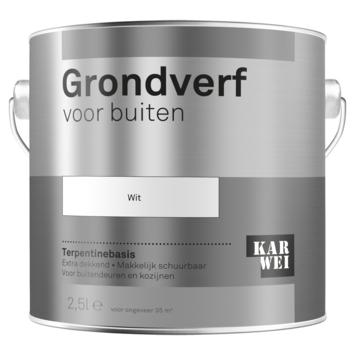 Karwei buitenlak grondverf 2,5 L wit