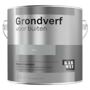 Karwei buitenlak grondverf 2,5 L grijs