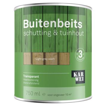 KARWEI buitenbeits schutting & tuinhout transparant light grey wash 750 ml