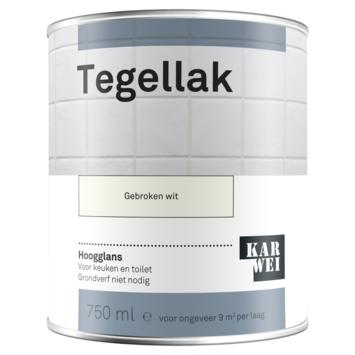 Karwei tegellak hoogglans gebroken wit 750 ml