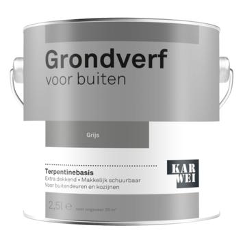 Karwei grondverf buiten grijs 2,5 liter