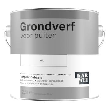 Karwei grondverf buiten wit 2,5 liter