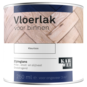 KARWEI vloerlak kleurloos zijdeglans 250 ml