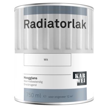 Karwei radiatorlak hoogglans wit 750 ml