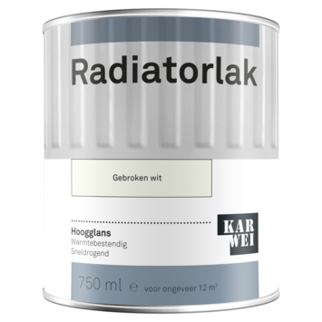 Karwei radiatorlak hoogglans gebroken wit 750 ml