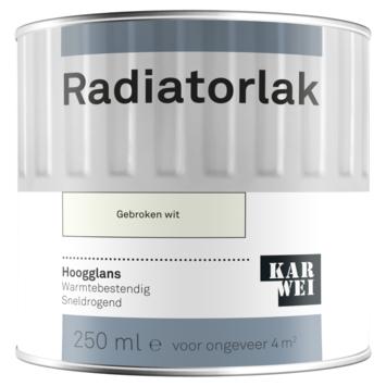 Karwei radiatorlak hoogglans gebroken wit 250 ml