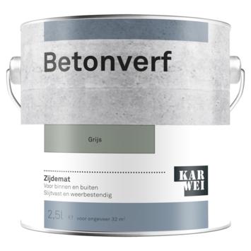 Karwei betonverf mat grijs 2,5 liter