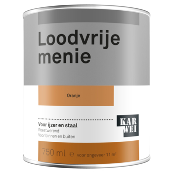 Karwei loodvrije menie grondverf oranje 750 ml