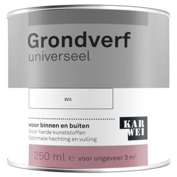 Karwei grondverf universeel wit 250 ml