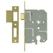 NEMEF insteekcilinderslot binnendeur 55 mm met messing voorplaat