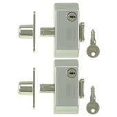 NEMEF druksluiting raam SKG 1-ster grijs (2 stuks)