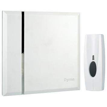 Byron deurbelset BY401W draadloos wit