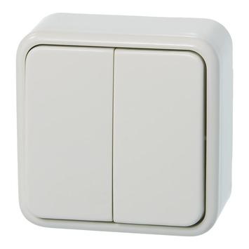 Plieger Basic opbouw serieschakelaar wit