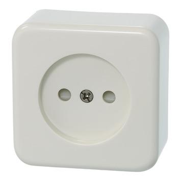 Plieger Basic opbouw stopcontact enkel wit