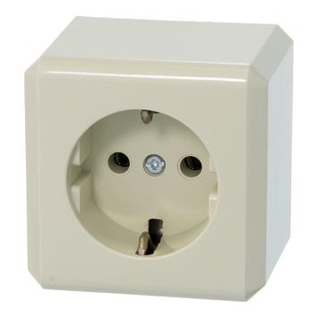 Schneider Electric Merten opbouw stopcontact geaard crème