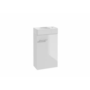Allibert badmeubelsetset Mike 40 cm glanzend wit met porceleinen wastafel compact met  grote opslagcapaciteit