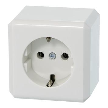 Schneider Electric Merten opbouw stopcontact geaard wit