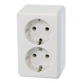Schneider Electric Merten opbouw stopcontact dubbel geaard wit