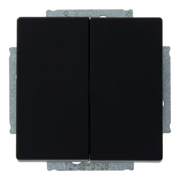Busch-Jaeger Future Linear wissel-wisselschakelaar zwart