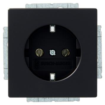 Busch-Jaeger Future Linear stopcontact geaard zwart