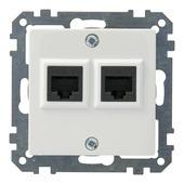 Schneider Electric Merten System M stopcontact UTP wit 2V