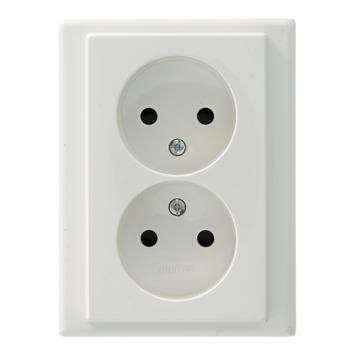 Schneider Electric Merten System M stopcontact dubbel wit