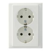 Schneider Electric Merten System M stopcontact dubbel geaard wit