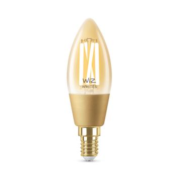 WiZ Connected LED kaars E14 25W filament gold koel tot warmwit licht dimbaar