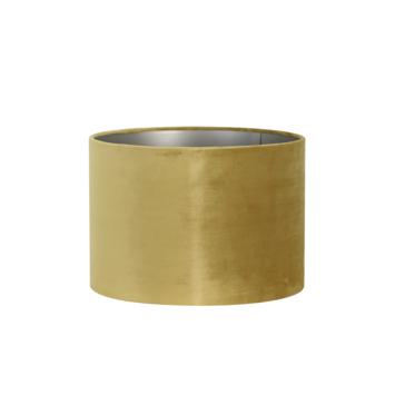 Lampenkap cilinder 30-30-21 cm VELOURS oker geel