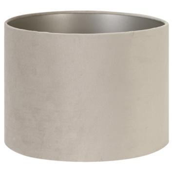 Lampenkap velours zand 30-30-21 cm