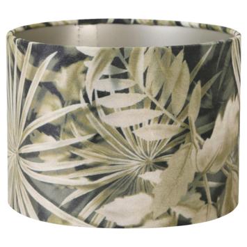 Lampenkap velours palm sepia 20-20-15cm