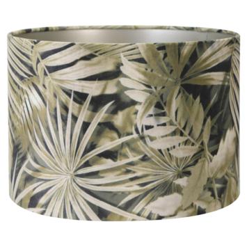 Lampenkap velours palm sepia 30-30-21 cm