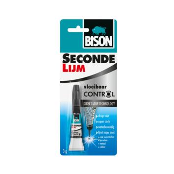 Bison secondelijm vloeibaar control blister 3 g