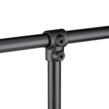 Novidade steigerbuis buiskoppeling T-stuk Zwart Ø 21mm