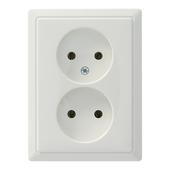 Schneider electric Artec stopcontact dubbel wit