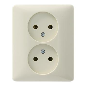 PEHA Standard stopcontact dubbel crème