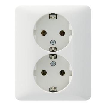 PEHA Standard stopcontact dubbel geaard wit