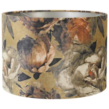 Lampenkap Velours barok bloem30-30-21cm