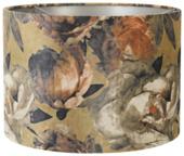 Lampenkap Velours barok bloemØ30x21cm